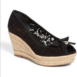 🎉HP🎉 Tory Burch Jackie Lace Wedge Espadrilles